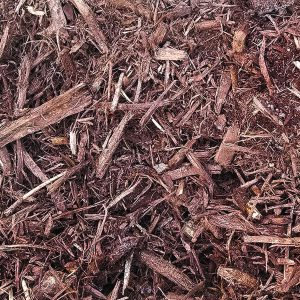 umber colored shredded hardwood mulch